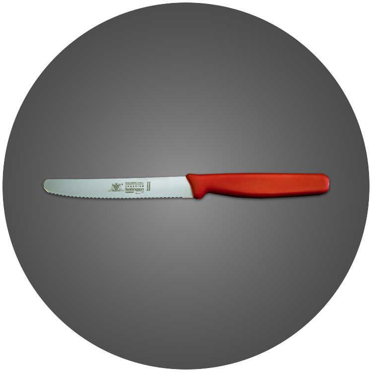 Solingen Tirtikli Mutfak Bıçağı Kırmızı