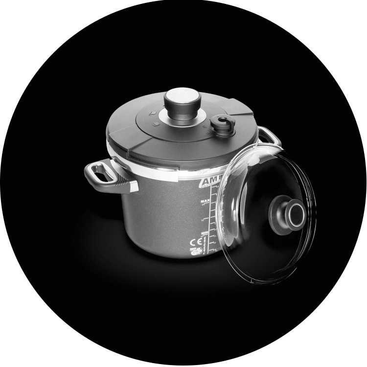 AMT Gastroguss Pressure Cooker Exclusive 3.5Lt 24cm Induksiyon